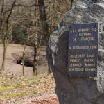 Galerie de l'Étançon, au premier plan présence de la stèle en hommage aux 4 dernières victimes de la mine