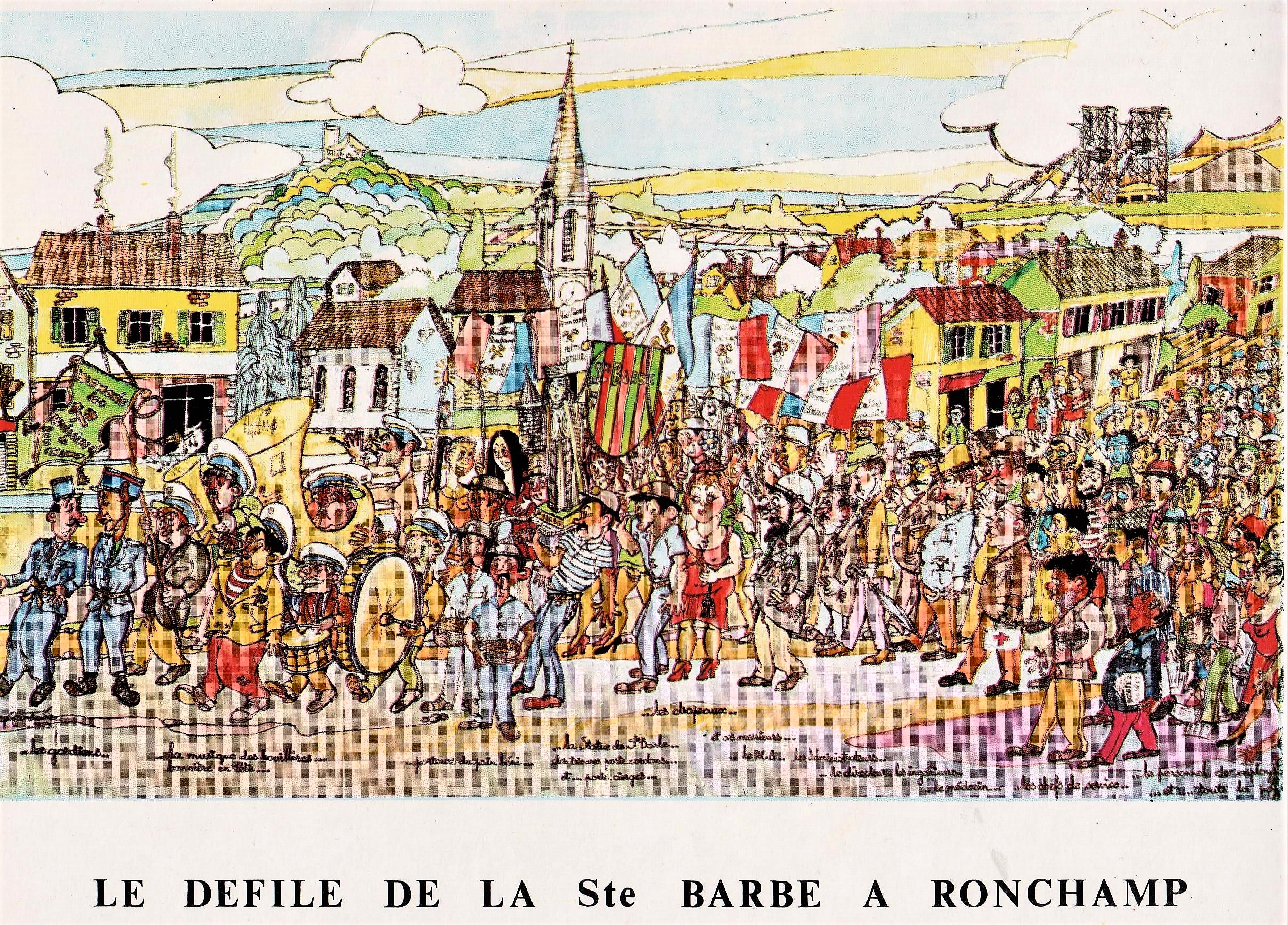 Poster du défilé de la Sainte-Barbe