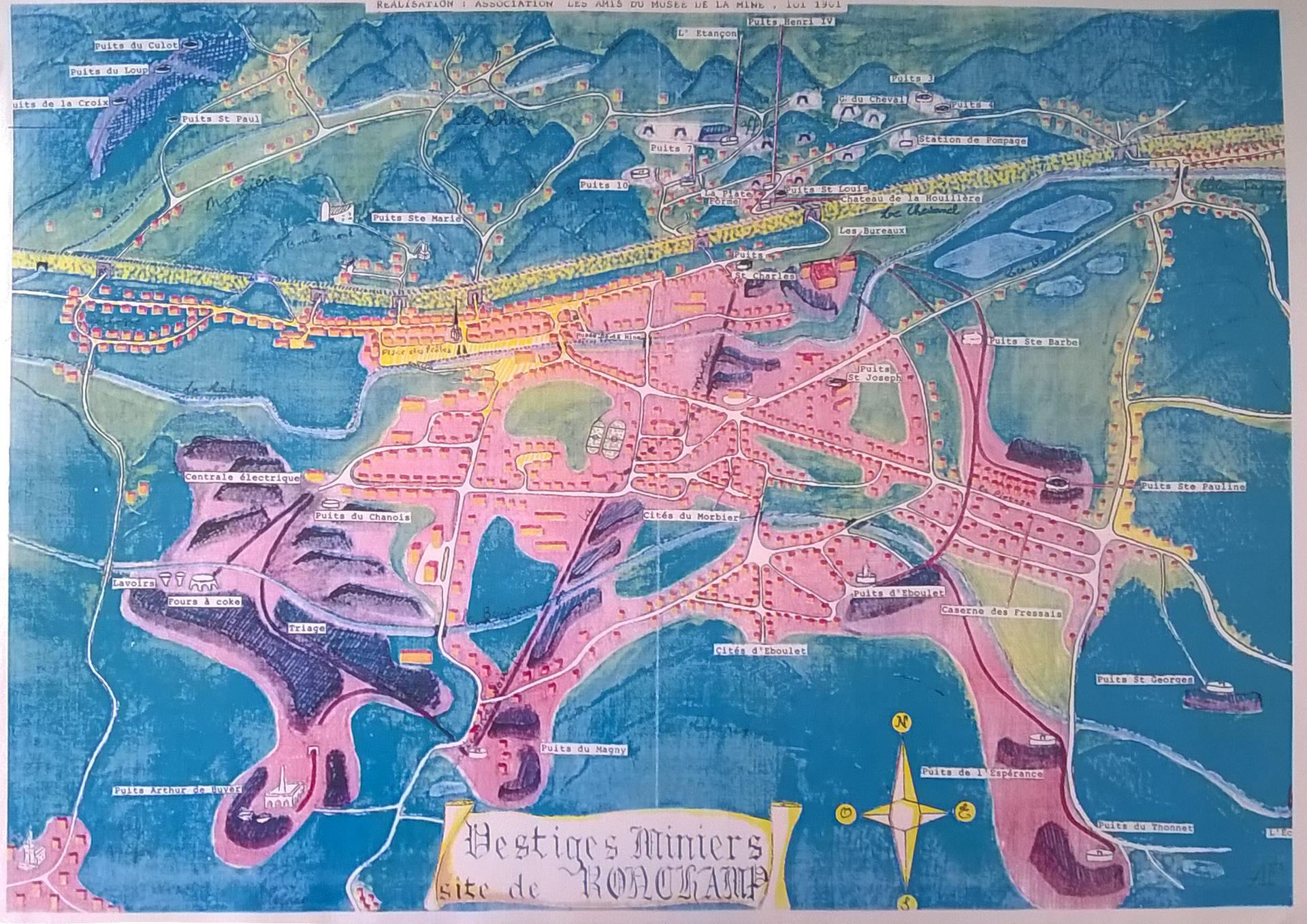 Plan des vestiges miniers