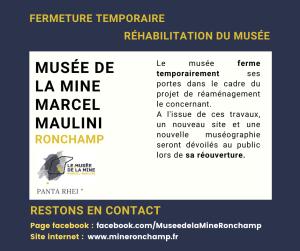 Musée de la Mine Marcel Maulini fermeture temporaire